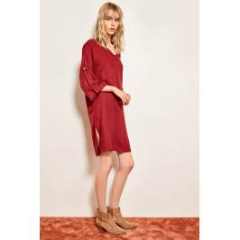 Termékinformáció Trendyol Burgundy Accessories Detailed Tunic Dress
